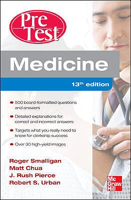 Portada del libro 9780071761499 Pretest Medicine