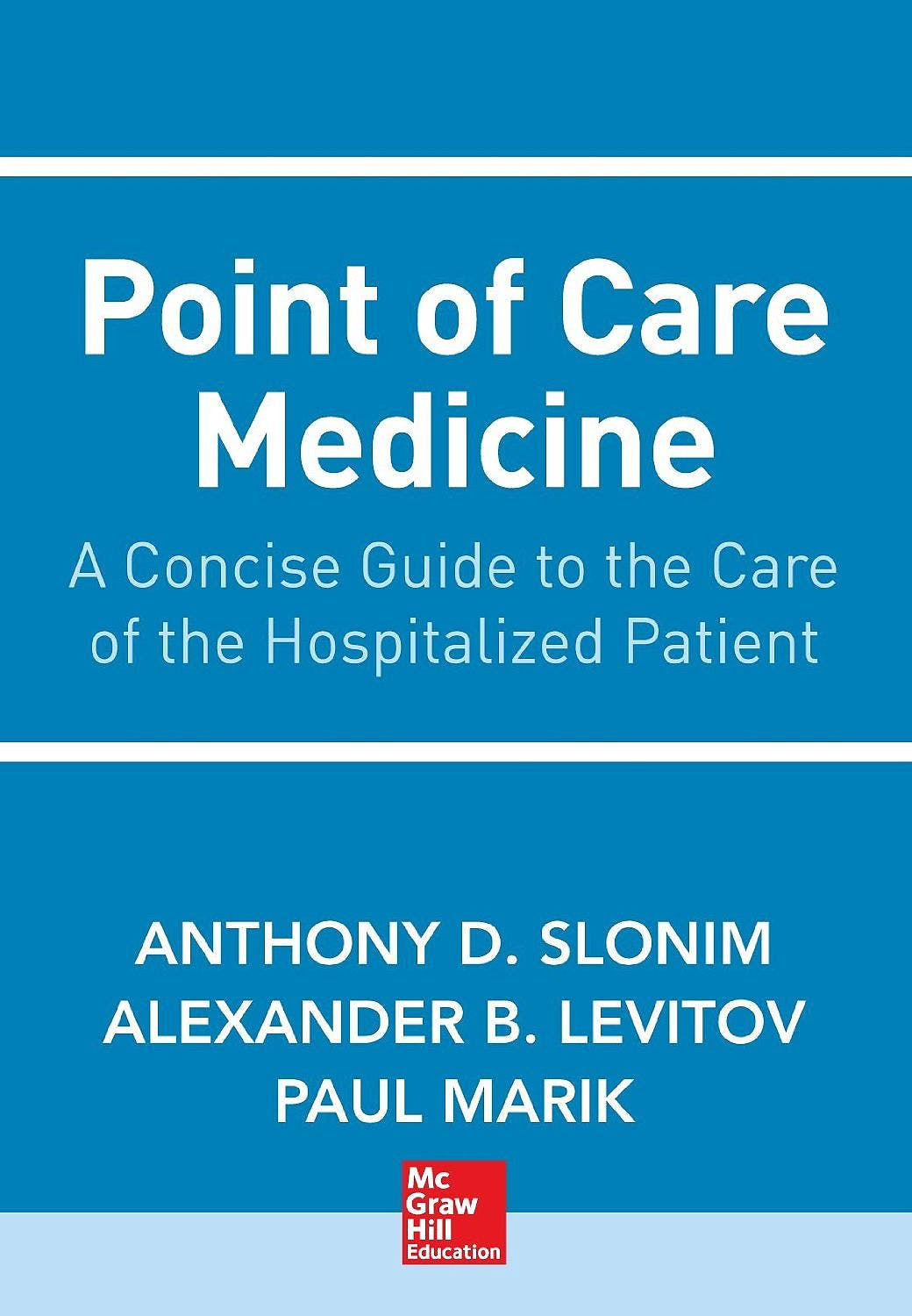 Portada del libro 9780071762984 Point of Care Medicine