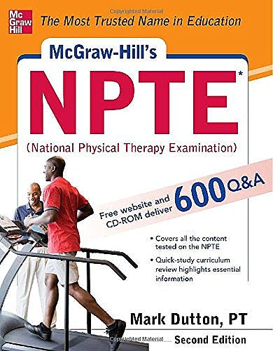 Portada del libro 9780071771313 McGraw-Hill's NPTE (National Physical Therapy Examination) + CD-ROM