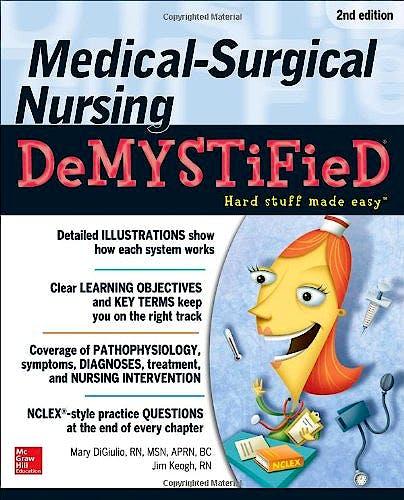 Portada del libro 9780071771498 Medical-Surgical Nursing Demystified