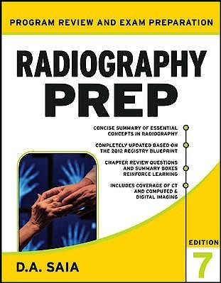 Portada del libro 9780071787048 Radiography Prep (Program Review and Exam Preparation)