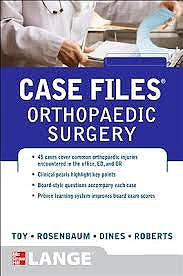 Portada del libro 9780071790307 Case Files Orthopaedics. Lange
