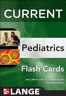 Portada del libro 9780071795333 Current Pediatrics Flashcards. Lange