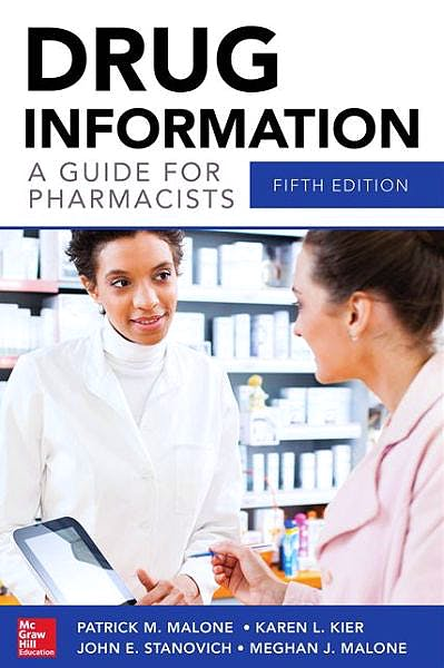 Portada del libro 9780071804349 Drug Information. a Guide for Pharmacists