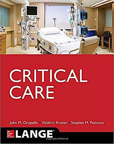 Portada del libro 9780071820813 Critical Care. Lange