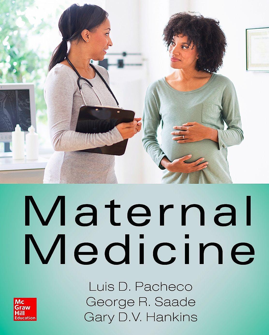 Portada del libro 9780071824163 Maternal Medicine