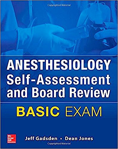 Portada del libro 9780071829199 Anesthesiology Self-Assessment and Board Review. Basic Exam