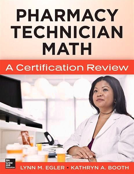 Portada del libro 9780071829687 Pharmacy Technician Math. A Certification Review