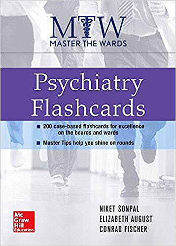 Portada del libro 9780071834377 Master the Wards. Psychiatry Flashcards