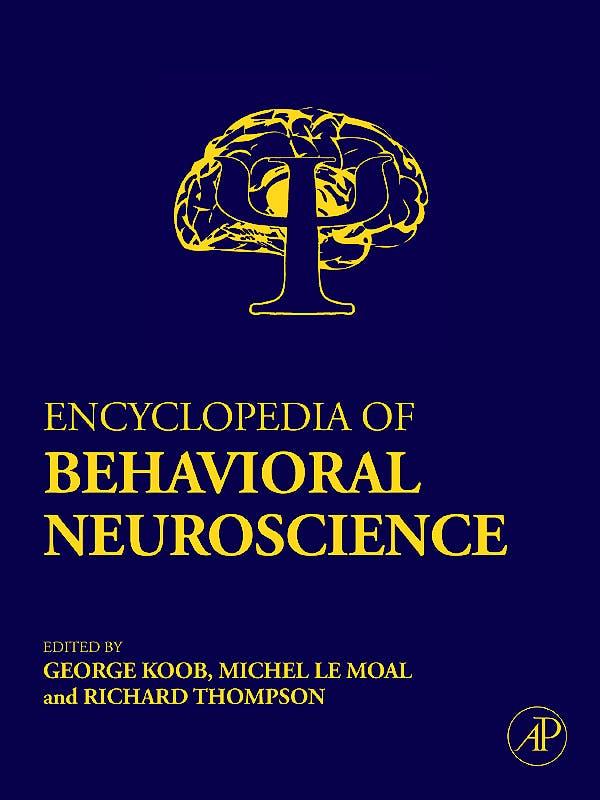 Portada del libro 9780080447322 Encyclopedia of Behavioral Neuroscience, 3 Vols.
