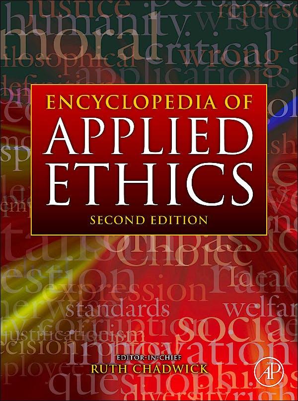 Portada del libro 9780123736321 Encyclopedia of Applied Ethics, 4 Vols.