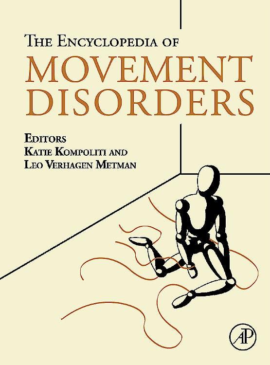 Portada del libro 9780123741011 Encyclopedia of Movement Disorders, 3-Volume Set