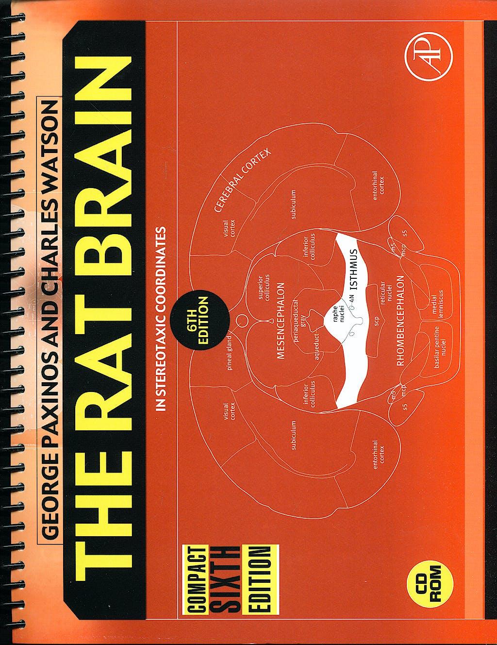Portada del libro 9780123742438 The Rat Brain in Stereotaxic Coordinates + Cd-Rom