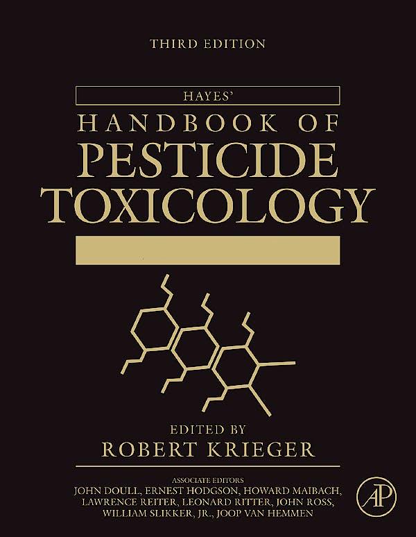 Portada del libro 9780123743671 Hayes' Handbook of Pesticide Toxicology