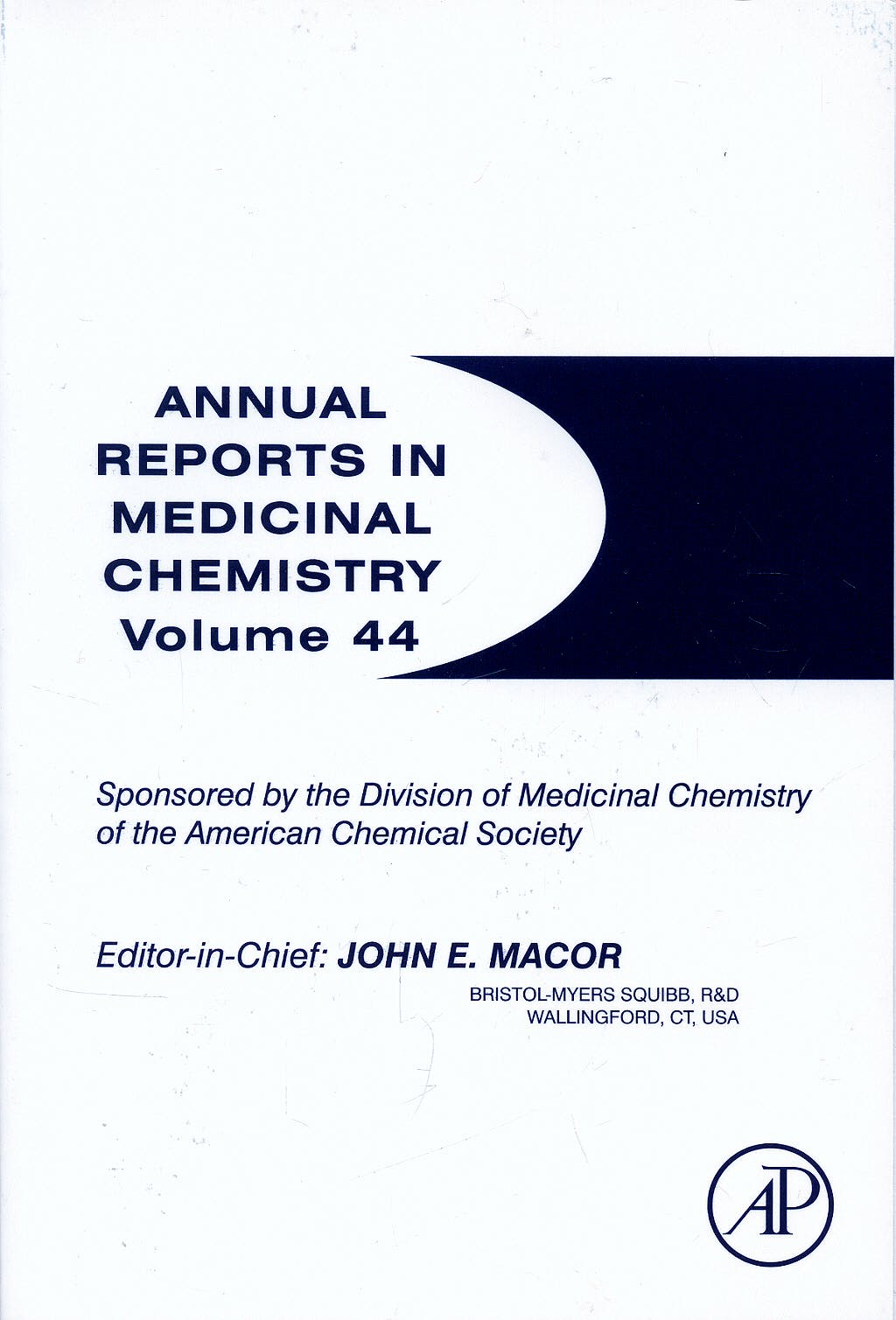 Portada del libro 9780123747662 Annual Reports in Medical Chemistry, Vol. 44