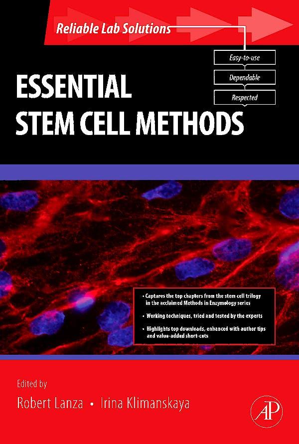 Portada del libro 9780123750617 Essential Stem Cell Methods