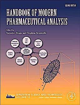 Portada del libro 9780123756800 Handbook of Modern Pharmaceutical Analysis