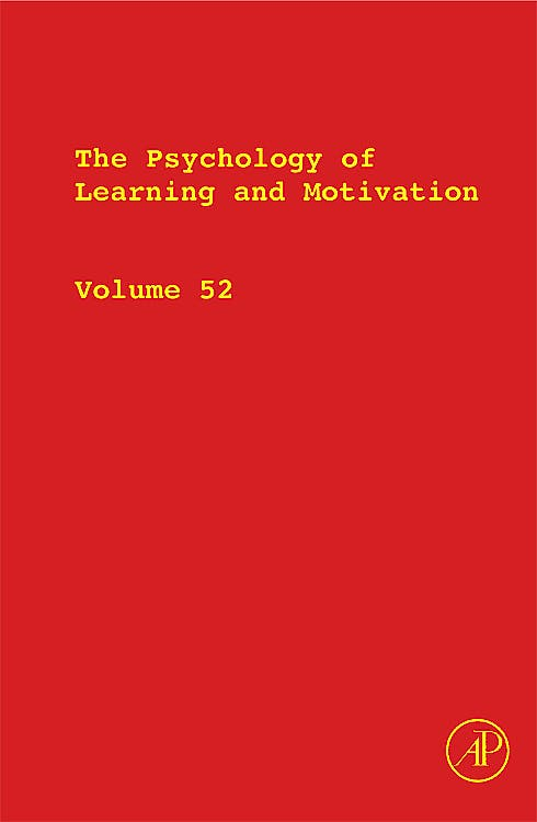 Portada del libro 9780123809087 The Psychology of Learning and Motivation, Vol. 52
