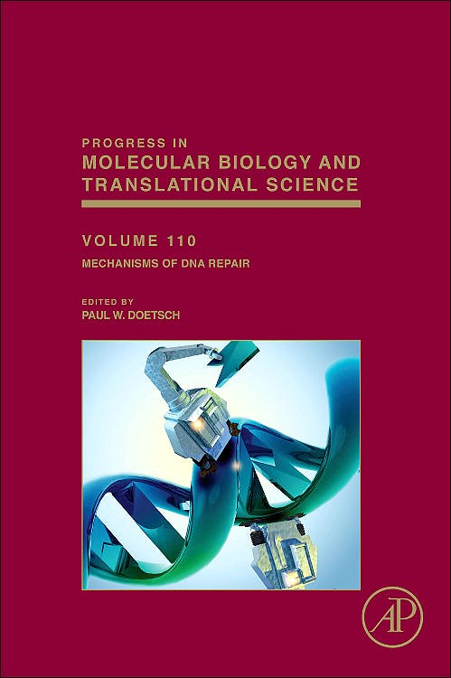 Portada del libro 9780123876652 Progress in Molecular Biology and Translational Science, Vol. 110: Mechanisms of Dna Repair