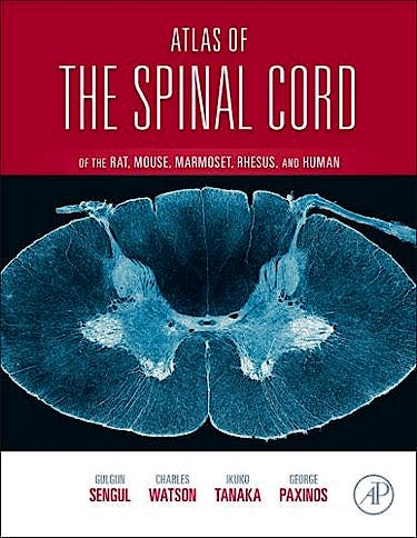 Portada del libro 9780123978769 Atlas of the Spinal Cord of the Mouse, Rat, Rhesus, Marmoset, and Human