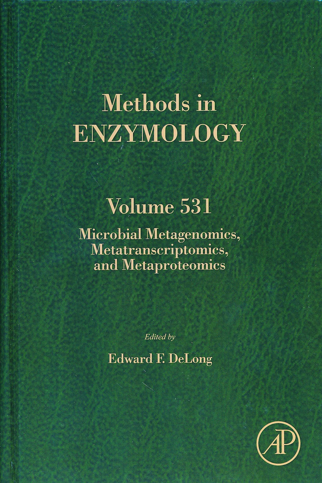 Portada del libro 9780124078635 Microbial Metagenomics, Metatranscriptomics, and Metaproteomics (Methods in Enzymology, Vol. 531)