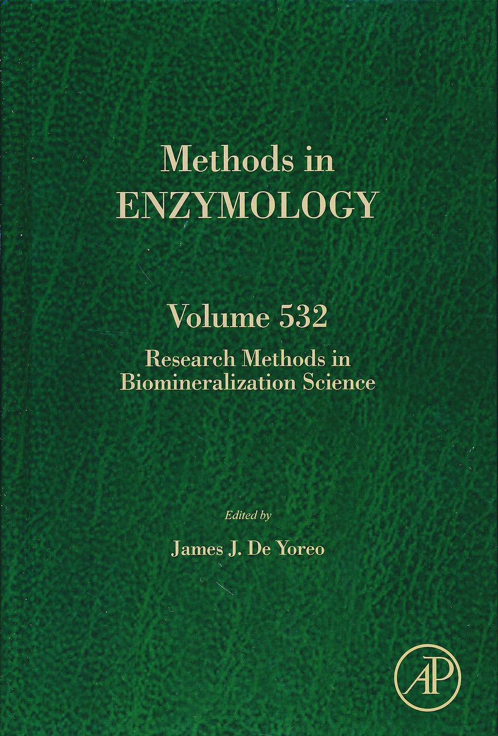 Portada del libro 9780124166172 Research Methods in Biomineralization Science (Methods in Enzymology, Vol. 532)