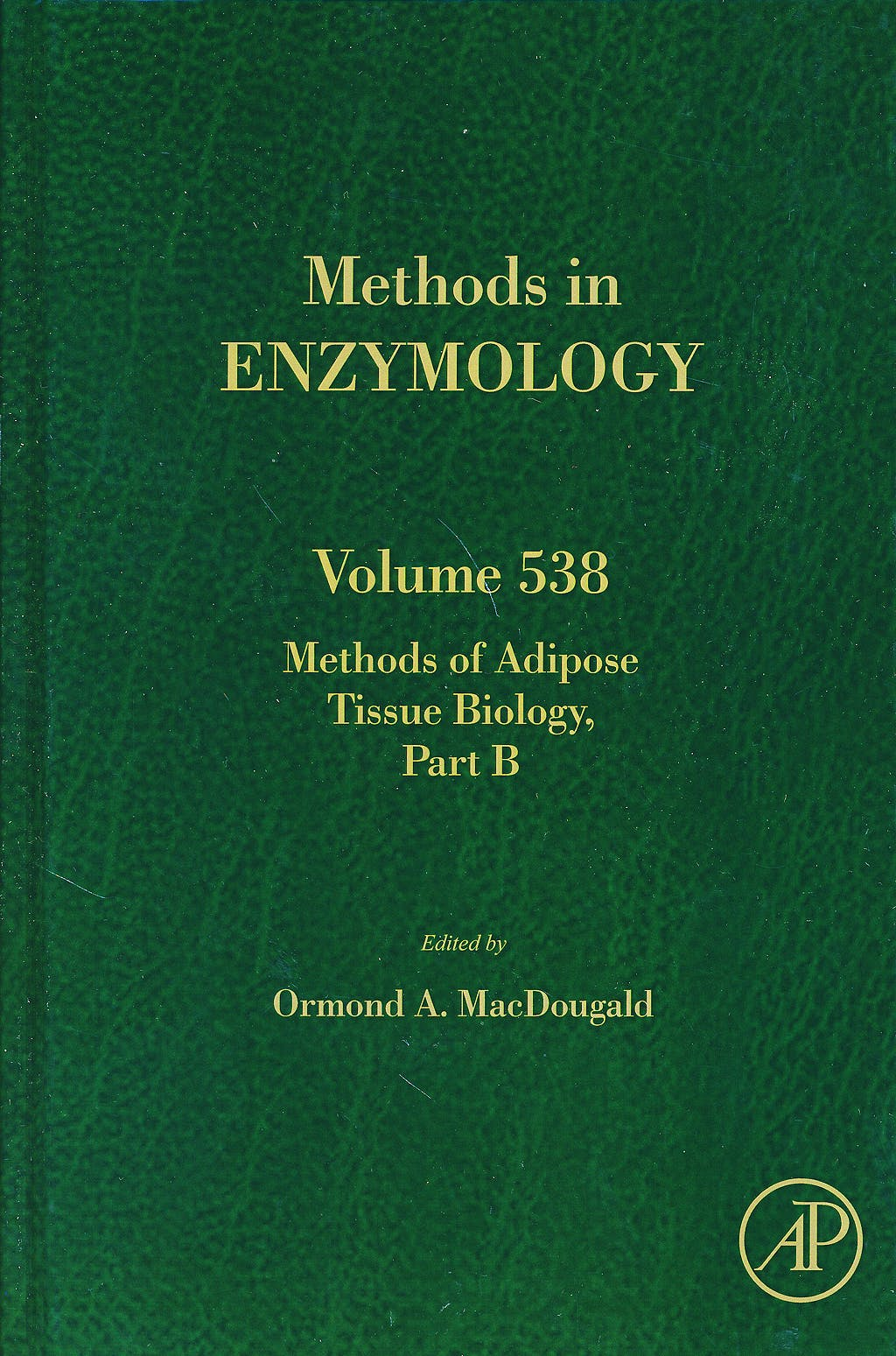 Portada del libro 9780128002803 Methods of Adipose Tissue Biology, Part B (Methods in Enzymology, Vol. 538)