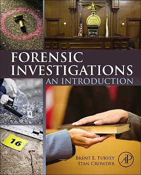Portada del libro 9780128006801 Forensic Investigations. an Introduction