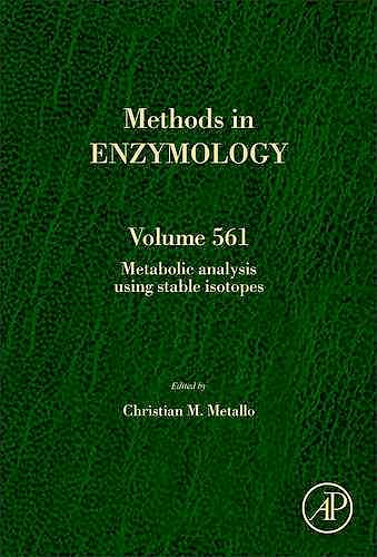 Portada del libro 9780128022931 Metabolic Analysis Using Stable Isotopes (Methods in Enzymology, Vol. 561)