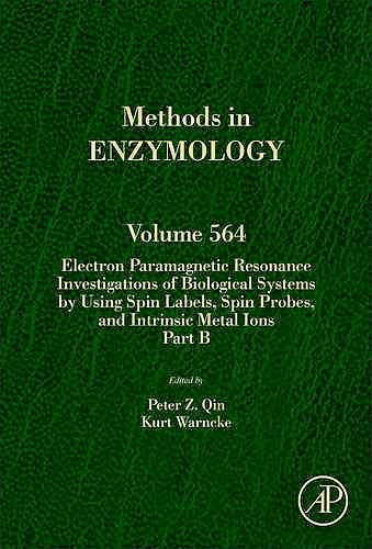 Portada del libro 9780128028353 Electron Paramagnetic Resonance Investigations of Biological Systems…. Part B (Methods in Enzymology, Vol. 564)