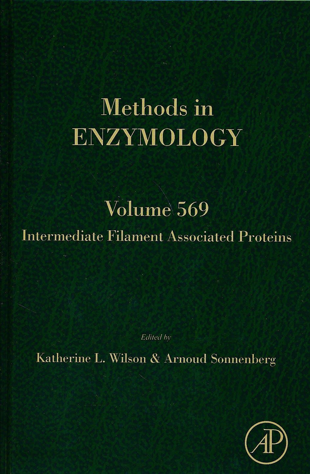 Portada del libro 9780128034699 Intermediate Filament Associated Proteins (Methods in Enzymology, Vol. 569)