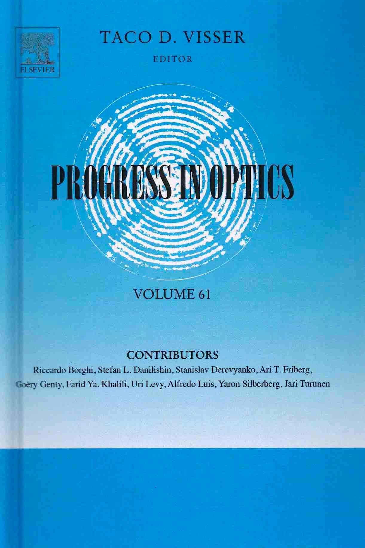 Portada del libro 9780128046999 Progress in Optics, Volume 61