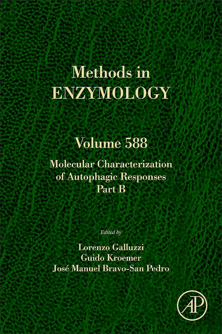 Portada del libro 9780128096741 Molecular Characterization of Autophagic Responses Part B (Methods in Enzymology, Vol. 588)