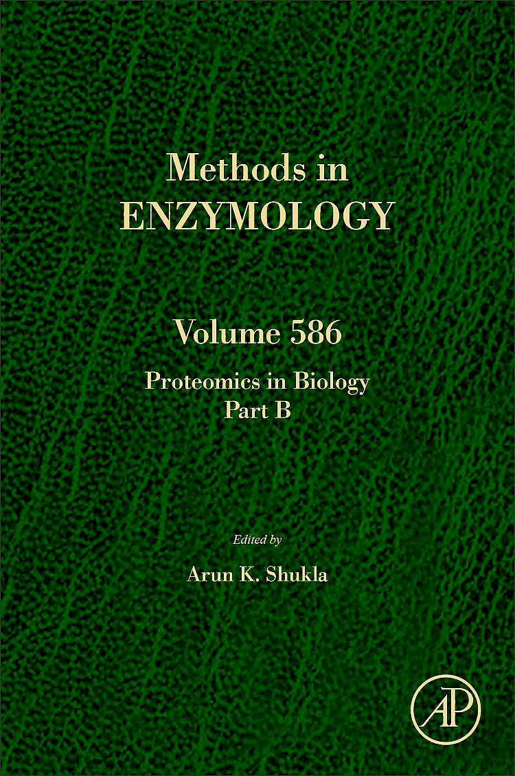 Portada del libro 9780128097434 Proteomics in Biology, Part B (Methods in Enzymology, Vol. 586)
