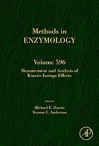 Portada del libro 9780128122730 Measurement and Analysis of Kinetic Isotope Effects (Methods in Enzymology, Vol. 596)