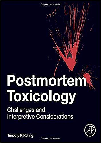 Portada del libro 9780128151631 Postmortem Toxicology. Challenges and Interpretive Considerations