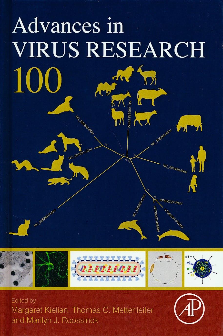 Portada del libro 9780128152010 Advances in Virus Research, Vol. 100