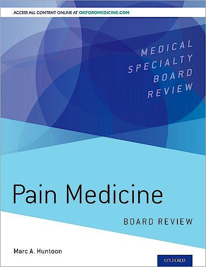 Portada del libro 9780190217518 Pain Medicine. Board Review