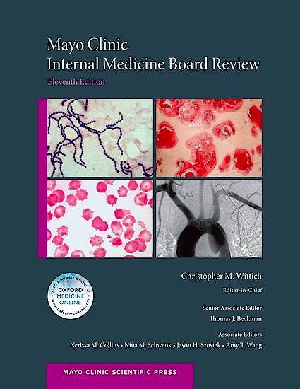 Portada del libro 9780190464868 Mayo Clinic Internal Medicine Board Review