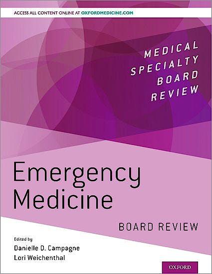 Portada del libro 9780190852955 Emergency Medicine Board Review