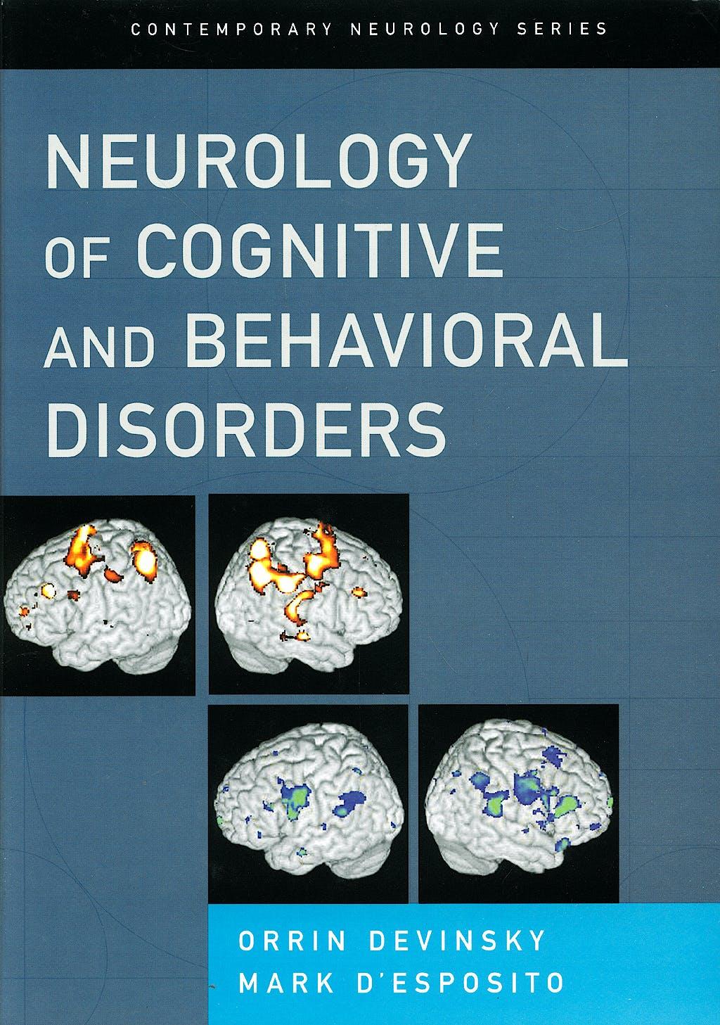 Portada del libro 9780195137644 Neurology of Cognitive and Behavioral Disorders