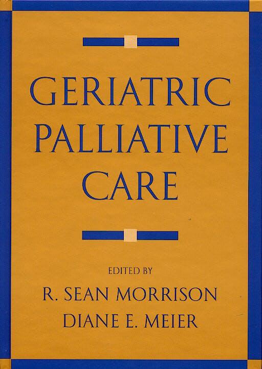 Portada del libro 9780195141917 Geriatric Palliative Care