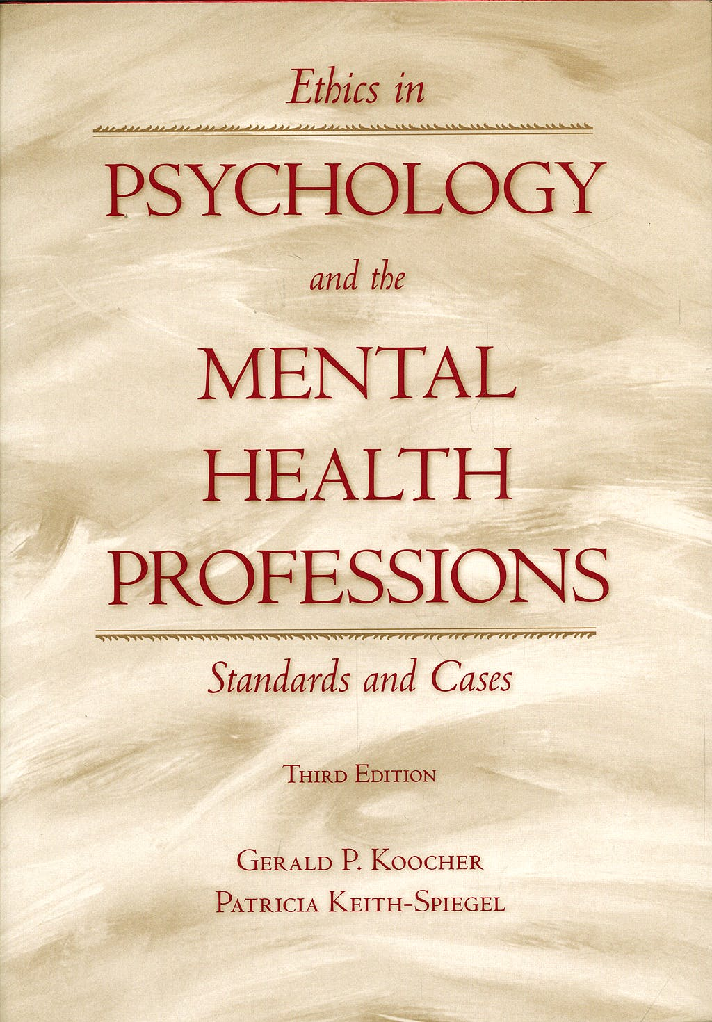 Portada del libro 9780195149111 Ethics in Psychology and the Mental Health Professions