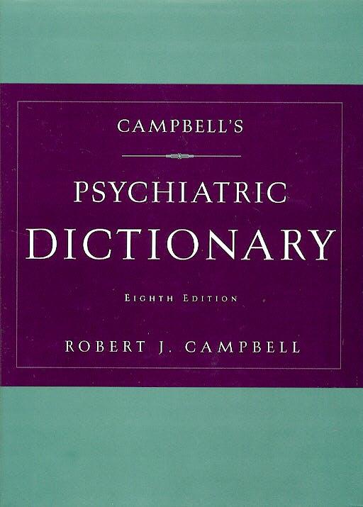 Portada del libro 9780195152210 Psychiatric Dictionary