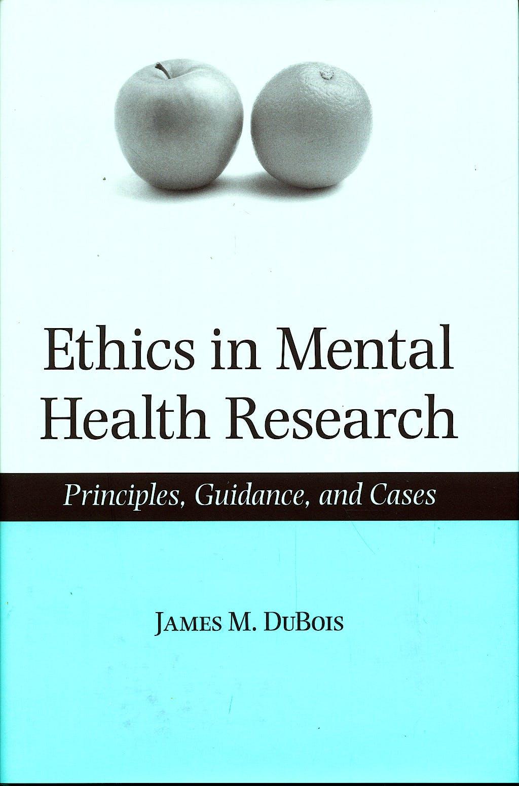 Portada del libro 9780195179934 Ethics in Mental Health Research