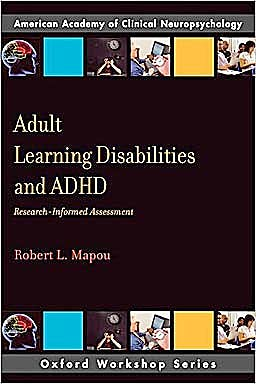 Portada del libro 9780195371789 Adult Learning Disabilities and Adhd. Research-Informed Assessment