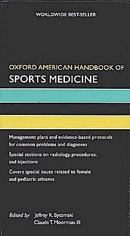 Portada del libro 9780195372199 Oxford American Handbook of Sports Medicine