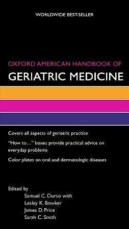 Portada del libro 9780195373189 Oxford American Handbook of Geriatric Medicine