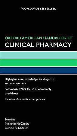 Portada del libro 9780195375107 Oxford American Handbook of Clinical Pharmacy (Oxford American Handbooks of Medicine)