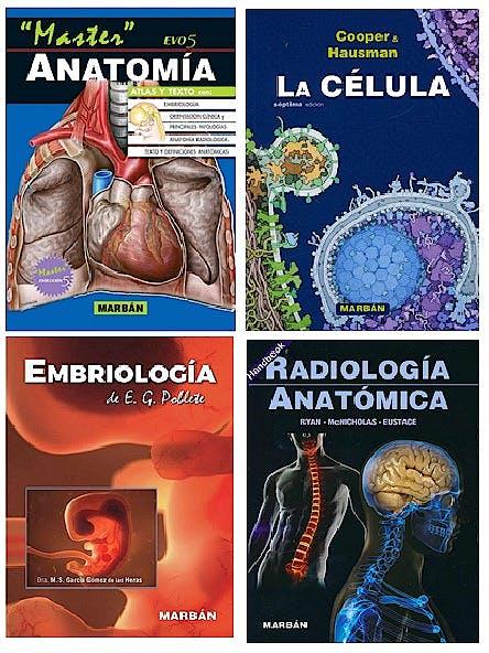 Portada del libro 9780198318347 Lote La Célula + Embriología de E.G. Poblete + Radiología Anatómica + Master Evo5 Anatomía (Pack Premium Estudiantes)